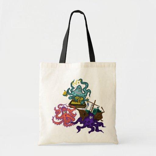 Matey's Pirate's Loot Tote Sack Bag Costume octopi