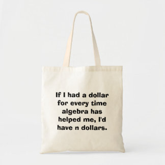 Math Algebra Math Tote Bag