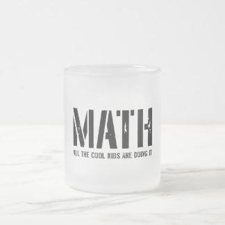 Math and Cool Kids Frosted Glass Coffee Mug
