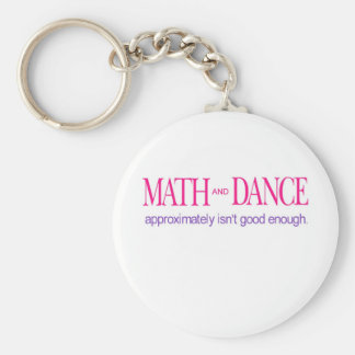 Math and Dance _ color text Basic Round Button Key Ring