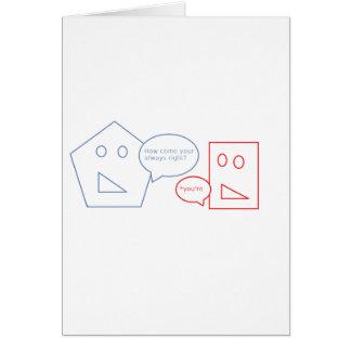 Math and English Pun Card
