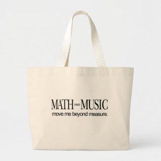 Math and Music _ move me beyond measure Large Tote Bag