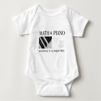 math and piano major key baby bodysuit