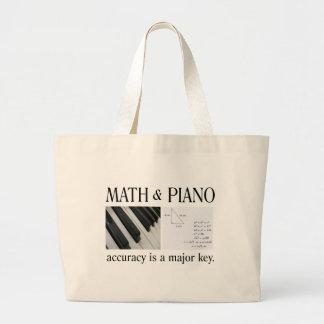 math and piano major key large tote bag