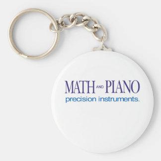 Math and Piano _ precision instruments Key Ring
