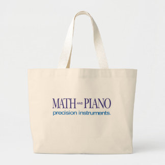Math and Piano _ precision instruments Large Tote Bag
