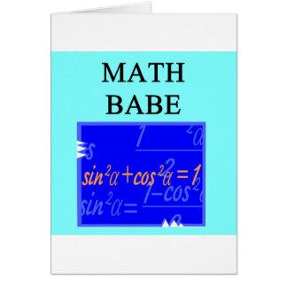 MATH BABE CARD