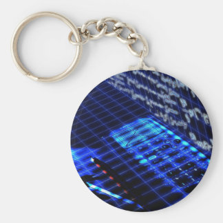 Math Basic Round Button Key Ring