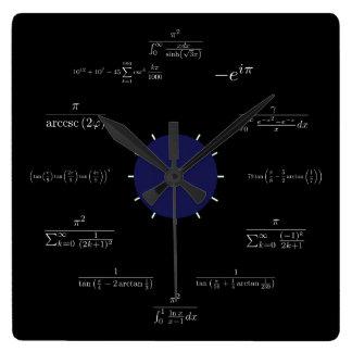 Math black wall clocks