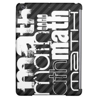 Math; Black & Dark Gray Stripes iPad Air Covers