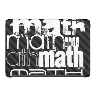 Math; Black & Dark Grey Stripes iPad Mini Case