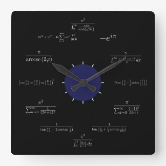 Math (black) wallclock
