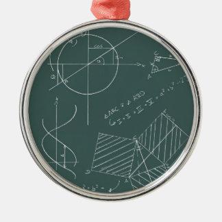Math blackboard christmas ornament