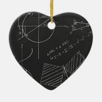 Math blackboard christmas tree ornaments