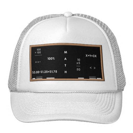 Math blackboard trucker hat