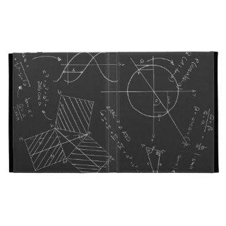 Math blackboard iPad folio cases