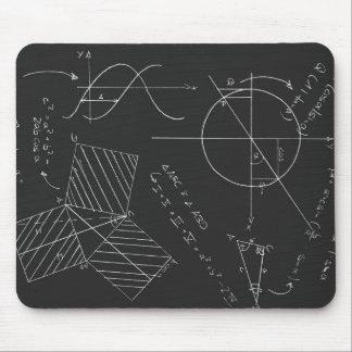 Math blackboard mousepad