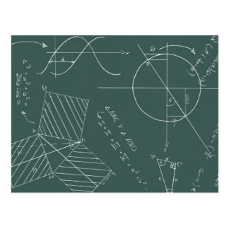 Math blackboard postcard