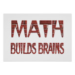 Math Builds Brains Posters