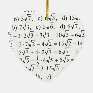 Math Ceramic Heart Decoration