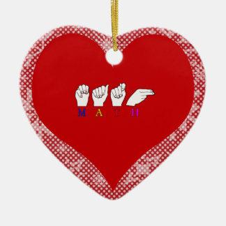 MATH CERAMIC HEART DECORATION