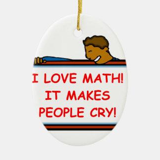 math ceramic oval decoration