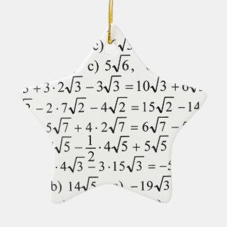 Math Ceramic Star Decoration