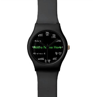 Math Chalkboard Watch - Solve the Time Equations