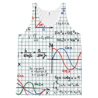 Math Cheat Sheet All-Over Print Tank Top