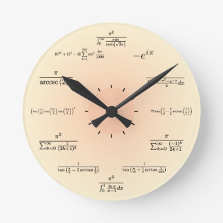 Math Clock (Light Yellow)