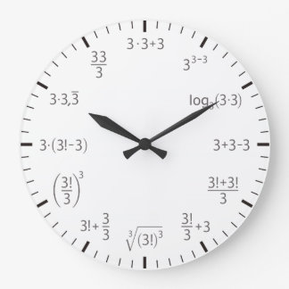 Math clock three times three – simple & beautyful