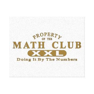 Math Club Gallery Wrap Canvas