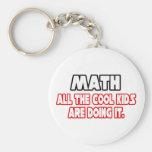 Math...Cool Kids Basic Round Button Key Ring