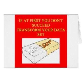 math data set card