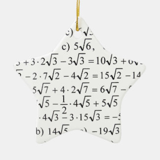 Math Christmas Tree Ornaments