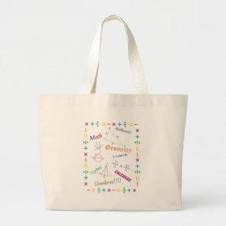 Math Design Large Tote Bag