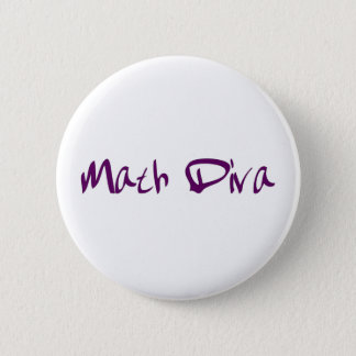 Math Diva 6 Cm Round Badge