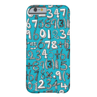 math doodle blue barely there iPhone 6 case