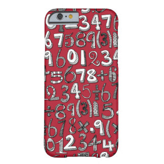 math doodle red barely there iPhone 6 case