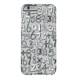 math doodle silver barely there iPhone 6 case