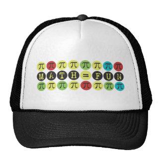 Math equals Fun - Colorful Mod Pi  - Funny Pi Gift Trucker Hats