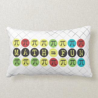 Math equals Fun - Colorful Mod Pi - Funny Pi Gift Pillows
