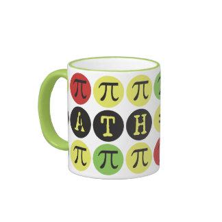 Math equals Fun - Colorful Mod Pi - Funny Pi Gift Coffee Mugs