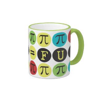 Math equals Fun - Colorful Mod Pi  - Funny Pi Gift Ringer Mug