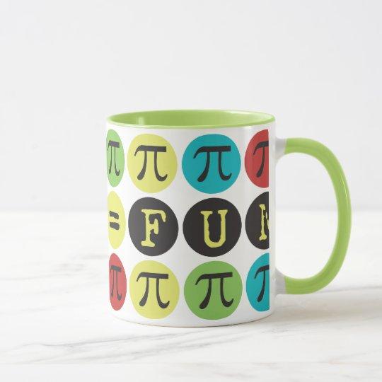 Math equals Fun - Colourful Mod Pi  - Funny Pi Mug