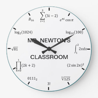 Math Equations and Notations Clocks