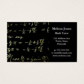 Math equations blackboard maths tutor / teacher