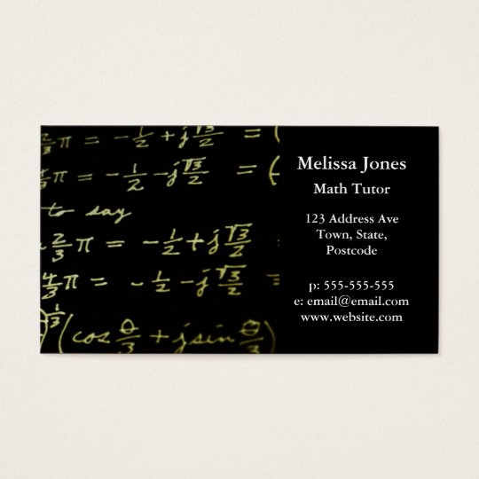 Math equations blackboard maths tutor / teacher business