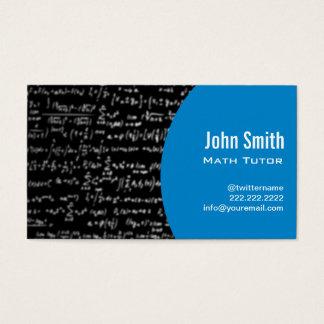 Math Equations Math Tutor Business Card (blue)