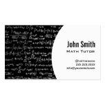 Math Equations Math Tutor Business Card (white)
